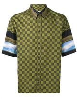 Givenchy checked panel short sleeve shirt