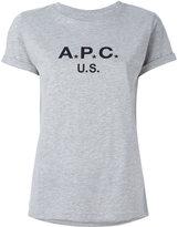 A.P.C. logo print T-shirt - women - Cotton/Polyester - XS