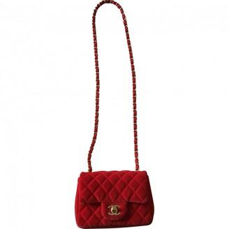 Chanel Timeless/Classique Red Velvet Handbags