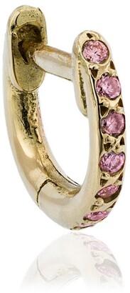 Ileana Makri Mini Rose Gold And Sapphire Hoops