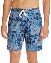 Trunks Hibiscus Floral Checker Swim