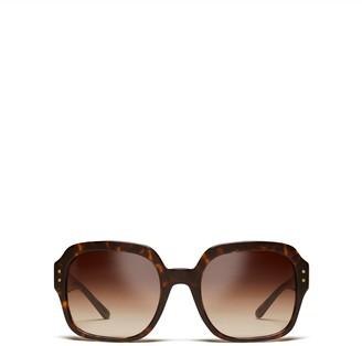 Oversized Square Logo Sunglasses
