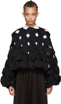 Junya Watanabe Black Cubic Sculptural Top