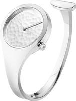 Georg Jensen Vivianna sterling silver hammered bangle watch 27mm