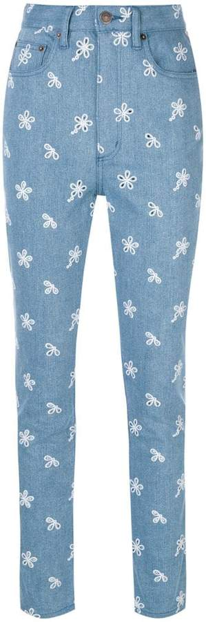Marc Jacobs high waist embroidery jeans