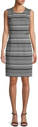 Calvin Klein Collection Striped Sheath Dress