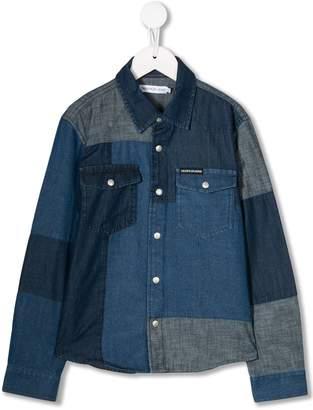 Calvin Klein Kids Patchwork Denim shirt