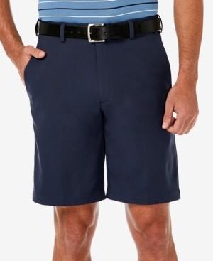 """Haggar Men's Cool 18 Pro Flat Front Classic-Fit 9.5"""" Shorts"""