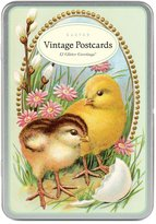 Cavallini & Co. Easter Glitter Greetings Postcards