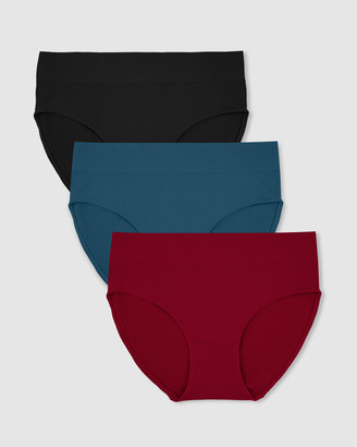 B Free Intimate Apparel Cotton High Cut Briefs - 3 Pack