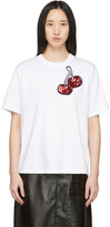 Victoria Victoria Beckham White Cherry Embroidered T-Shirt