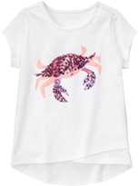 Gymboree White Crab Hi-Low Tee - Girls