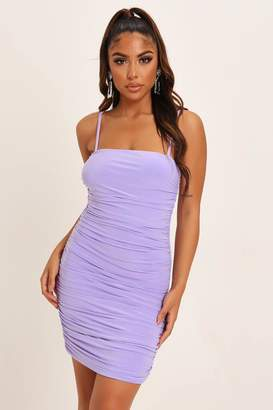 I SAW IT FIRST Lilac Ruched Mini Dress