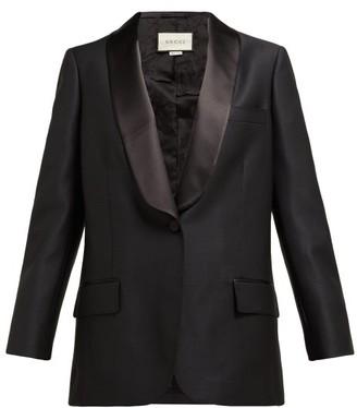 Gucci Veste Dhomme Pour Femme Wool-blend Tuxedo Jacket - Womens - Black