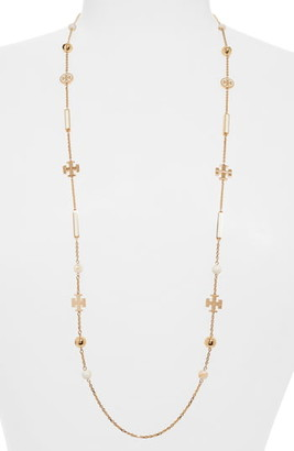Tory Burch Kira Scattered Rosary Necklace