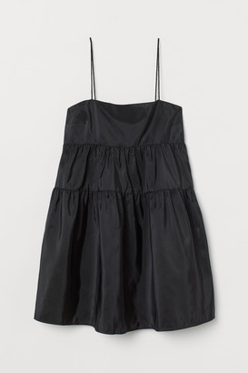 H&M Short Taffeta Dress - Black
