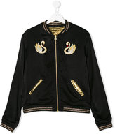 Little Marc Jacobs swan embroidered reversible bomber jacket