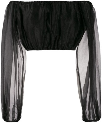 STAUD Off-The-Shoulder Organza Top