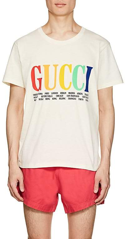 Gucci Men's City- & Logo-Print Cotton Short-Sleeve T-Shirt