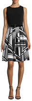 Tommy Hilfiger Belted Fit-and-Flare Dress