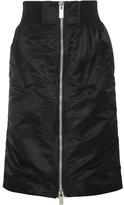 Sacai Ma-1 Satin-trimmed Shell Skirt - Black