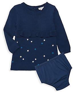 Splendid Baby Girl's 2-Piece Star-Embroidered A-Line Dress & Bloomer Set