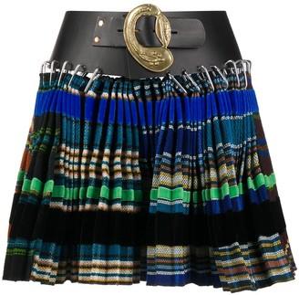 Chopova Lowena Checked Pleated Mini Skirt