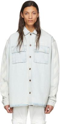 Off-White Blue Denim Diag Oversized Shirt