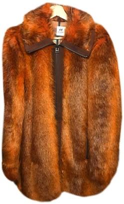 H&m Studio Orange Faux fur Coat for Women