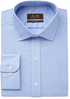 Tasso Elba Men's Classic-Fit Non-Iron True Blue Glen Plaid Dress Shirt, Only at Macy's