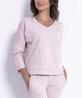 Fobya Women's Sweatshirts and Hoodies PINKPOWDER - Pink Powder Kangaroo-Pocket Sweatshirt - Women