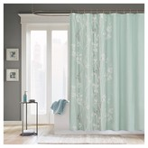 Nobrand No Brand Athena Floral Microfiber Shower Curtain - Teal
