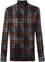 Lanvin checked flannel shirt - men - Virgin Wool - 38