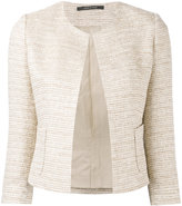 Tagliatore fitted tweed jacket - women - Cotton/Acrylic/Polyamide/other fibers - 38