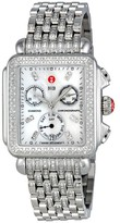 Michele Deco Day Chronograph Stainless Steel with Diamonds Ladies Watch
