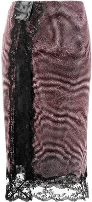Christopher Kane Crystal-Embellished Mesh Midi Skirt