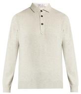 Brunello Cucinelli Long-sleeved Wool-blend Polo Shirt