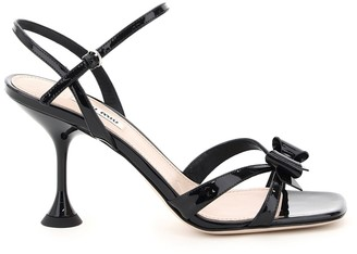 Miu Miu Patent Leather Bow Sandals