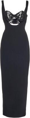 Alessandra Rich Sequined Bra-Inset Cady Midi Dress