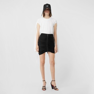 Burberry Cut-out Sleeve Cotton Oversized Top