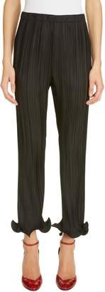 Givenchy Ruffle Cuff Plisse Pants
