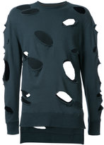 Miharayasuhiro distressed sweatshirt - men - Cotton - 46