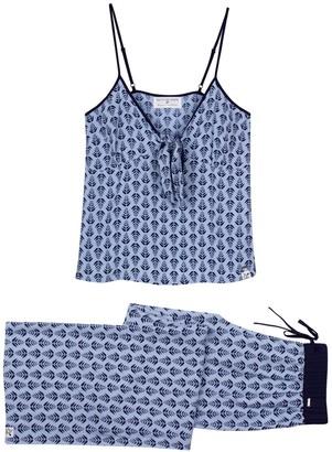 Pretty You London Ecovero Cami Trouser Set In Blue