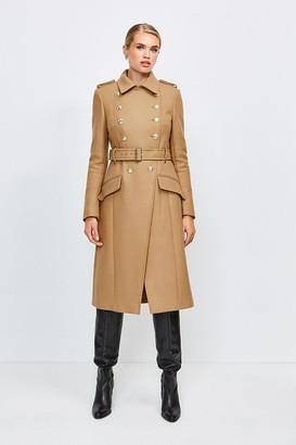 Karen Millen Italian Wool Blend Trench Coat