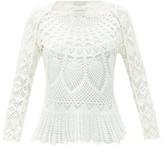 Marine Serre Cotton-crochet Top - Womens - White