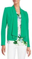 Calvin Klein Open-Front Crepe Jacket