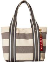 Tommy Hilfiger Classic Tommy Shopper Woven Rugby Handbags