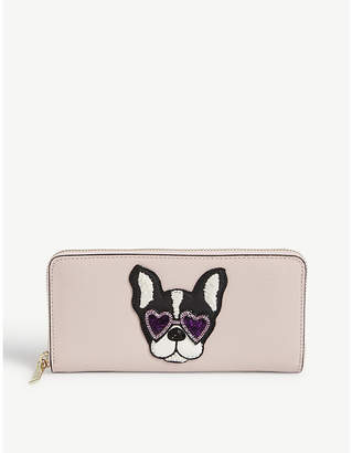 Kate Spade Sylvia Francois dog continental leather wallet