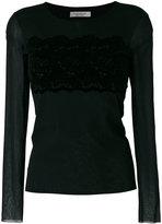 D-Exterior D.Exterior sheer sleeves blouse