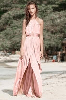The Jetset Diaries Lotus Maxi Dress in Blush